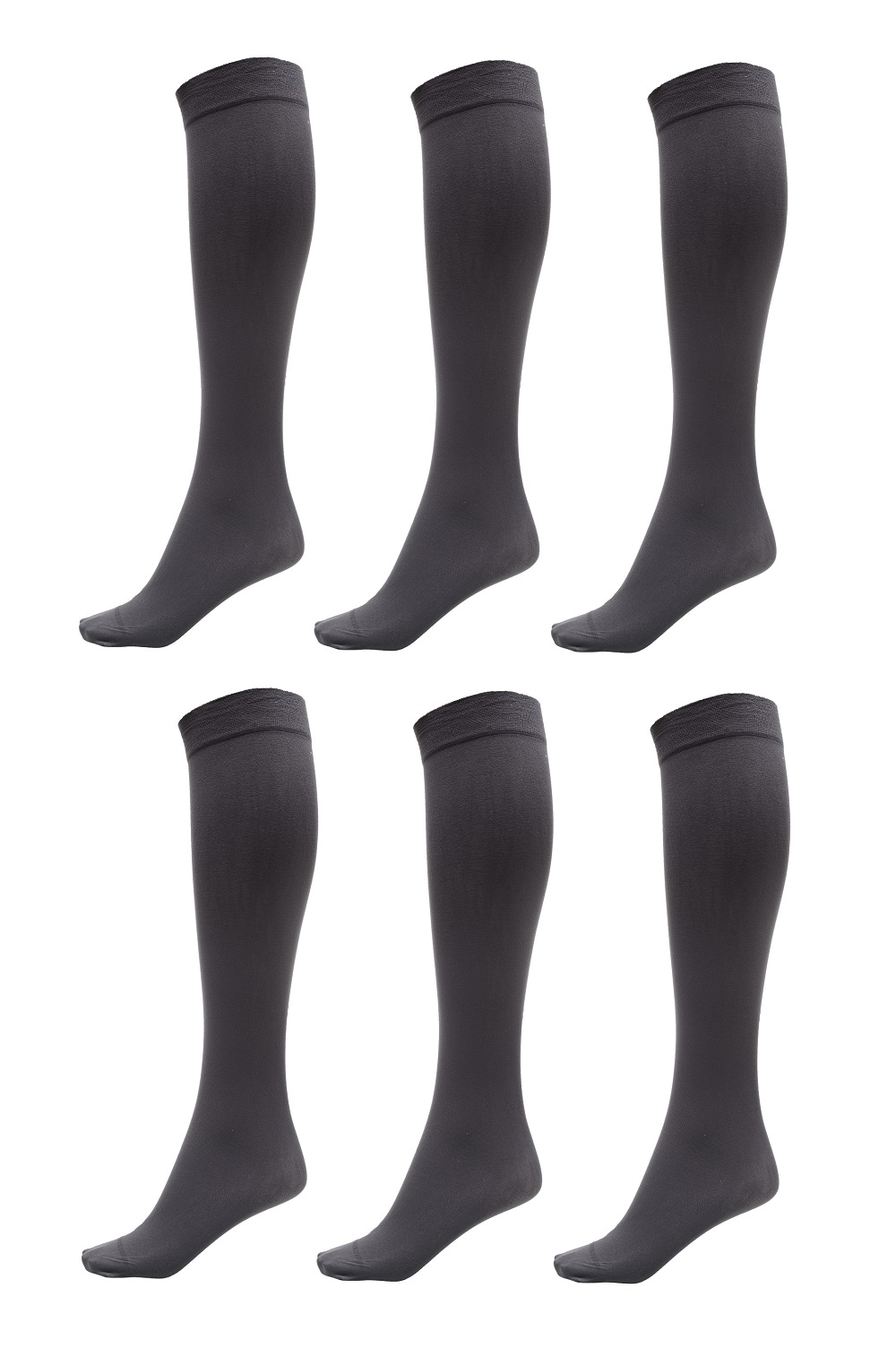 9-11 WOMEN/'S BLACK KNEE HIGH TROUSER NYLON SOCKS 1 PAIR NEW WITH TAG