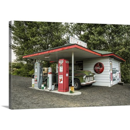 Great Big Canvas Scott Stulberg Premium Thick Wrap Canvas Entitled Vintage Texaco Gas Station In The Palouse  Washington