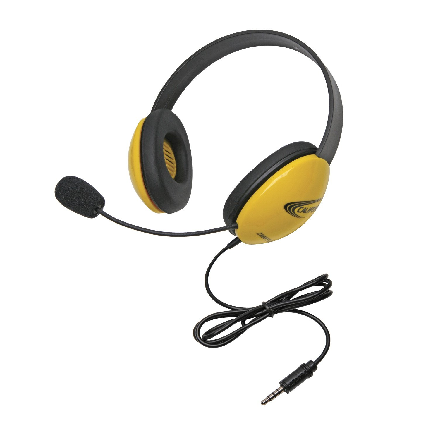 Califone 2800 YLT Califone To Go Stereo Headphone Yellow