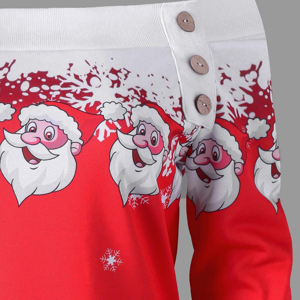 ed37faad527e UKAP - Asian size Christmas Fashion Women Off Shoulder Santa Claus Printing  Dresses Long Sleeve Party Dress - Walmart.com