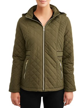 Big Chill Women's Hooded Diamond Quilted Jacket