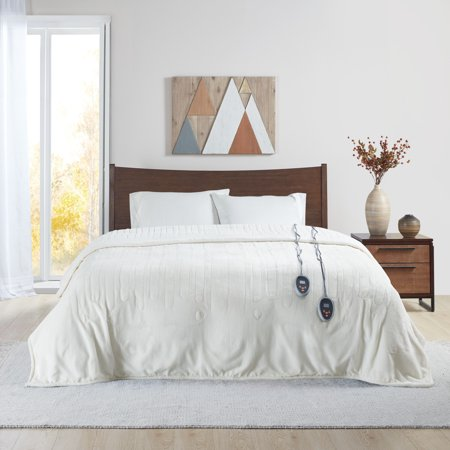 King Microlight Berber Electric Blanket Ivory - Beautyrest