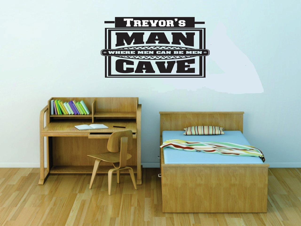 Personalized Name Vinyl Decal Sticker Custom Wall Art Man Cave Where Men Can Be Men 16 Inches X 22 Inches Walmart Com Walmart Com