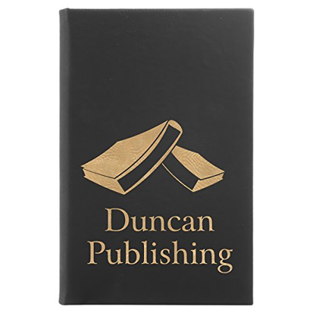 Custom Laser Engraved Personalized Leatherette Ruled Journal -