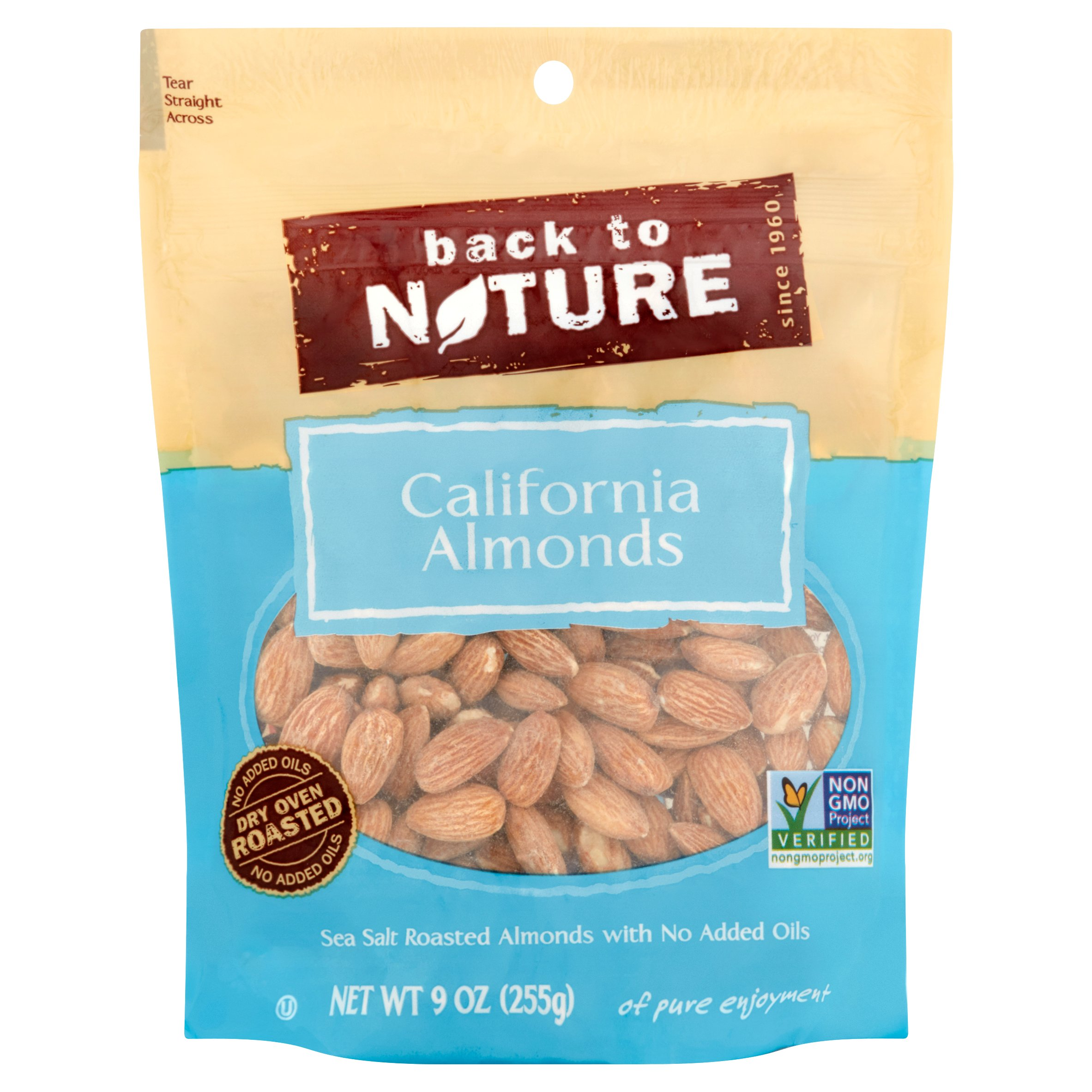 Back to Nature California Almonds, 9 oz by Back to Nature Foods Co., LLC