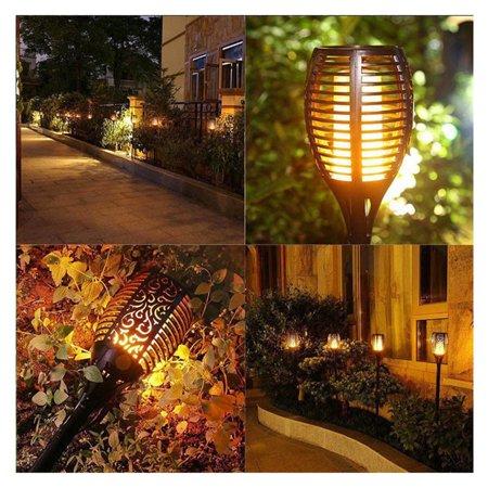 LED Flame Lamp Waterproof 51LED Solar LED Fire Lights Garden Decoration - image 3 of 5