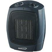 Brentwood H-C1601 1500-Watt Portable Ceramic Space Heater and Fan, Black