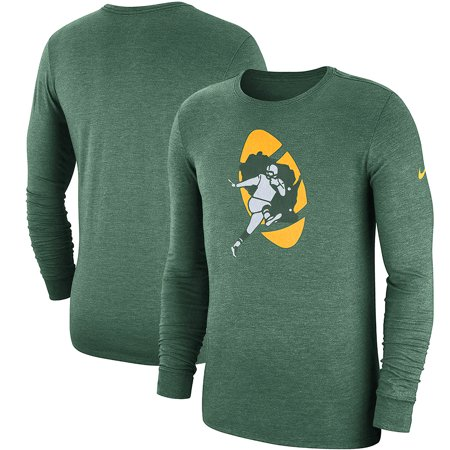 separation shoes 1e974 f0978 Green Bay Packers Nike Fan Gear Crackle Historic Tri-Blend Long Sleeve  T-Shirt - Green