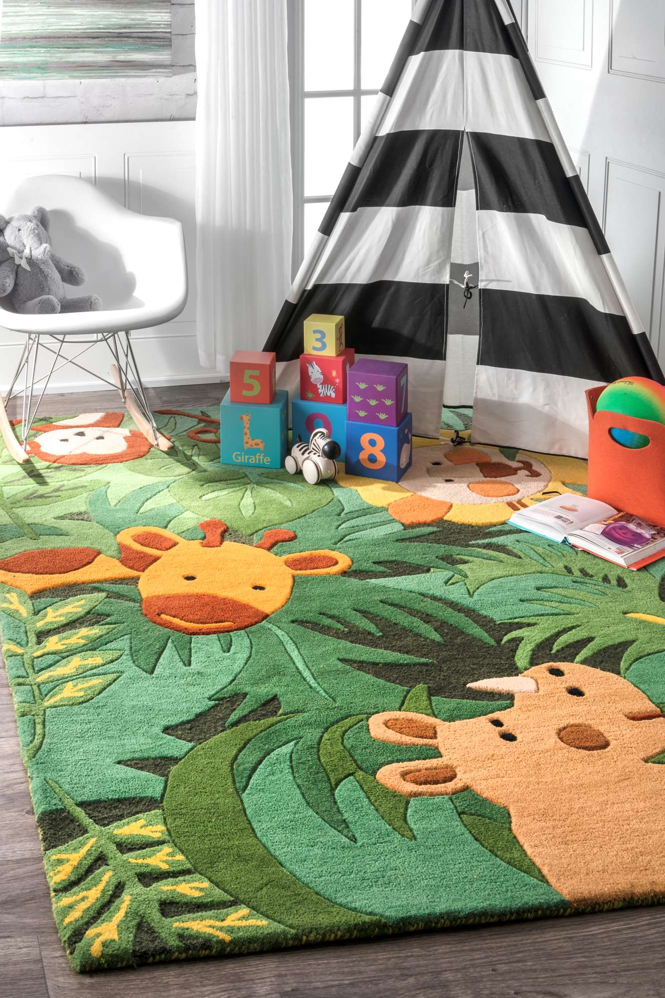 Nuloom Safari Friends Kids Area Rug