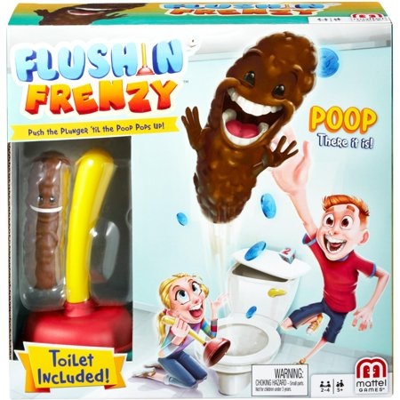 Flushin' Frenzy Game - Push the Plunger 'til the Poop Pops Out!