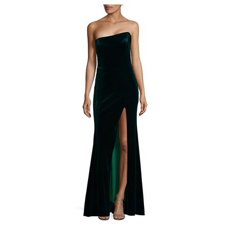 Front-Slit Velvet Dress (Voile Dress)