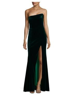 298fe179b3130 Product Image Front-Slit Velvet Dress