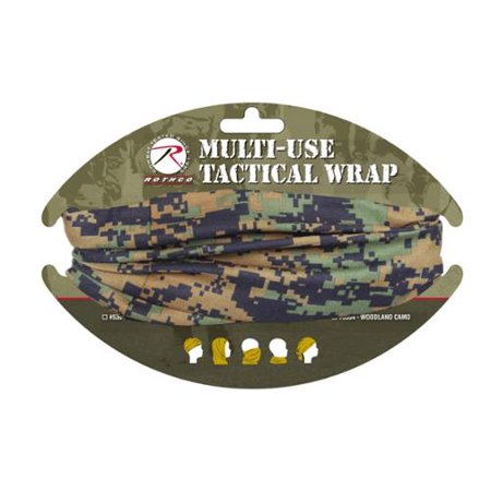 Rothco Multi Use Tactical Head Wrap, Woodland Digital Camo