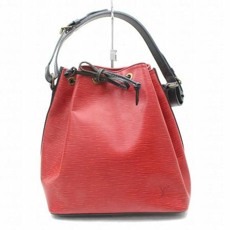 Bucket Bicolor Epi Black Petit Noe Drawstring Hobo 869538 Red Leather Shoulder Bag