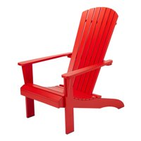 Product Image Mainstays Maudlow 7 Slat Wood Adirondack Outdoor Chair Multiple Colors
