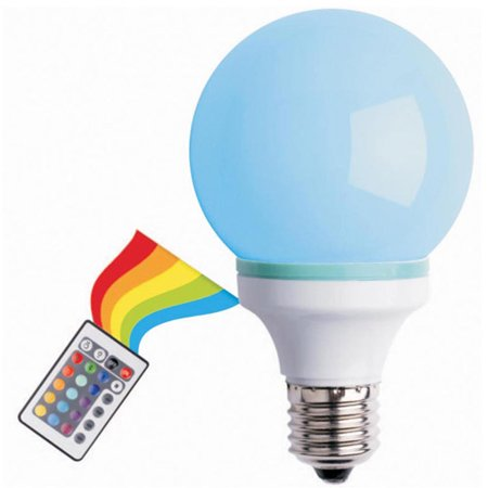 multi color changing led bulb with a rem. Black Bedroom Furniture Sets. Home Design Ideas