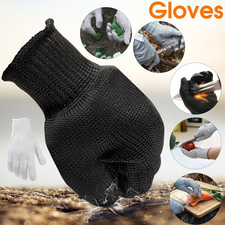 A Pair Black Anti Cutting Gloves Stainless Steel Wire Cut Resistant Safety Breathable Protective Metal Mesh Work Glove for Cutting and Slicing Black - image 7 de 7