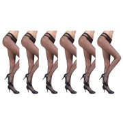JenniWears Women's 6-Pack Seamless Fishnet Pantyhose