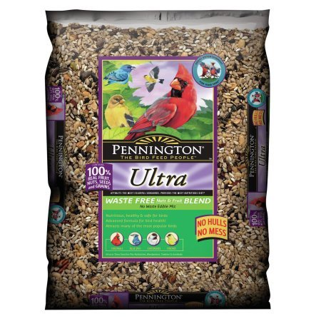 Bird Seed Bag - Pennington Wild Bird Feed and Seed Ultra Nuts and Fruit Waste Free, 6.0 LB
