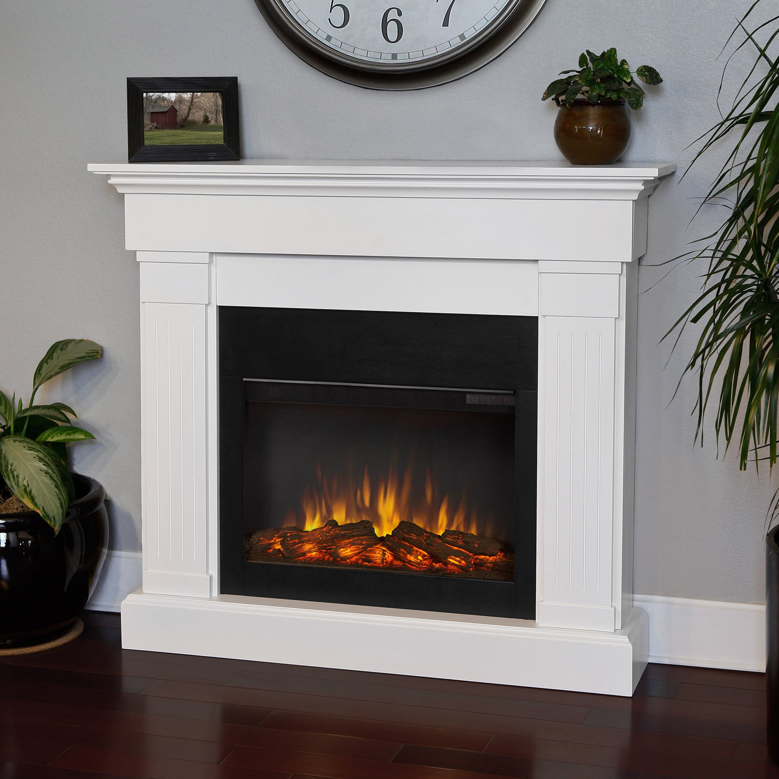 southern enterprises savannah media electric fireplace in antique
