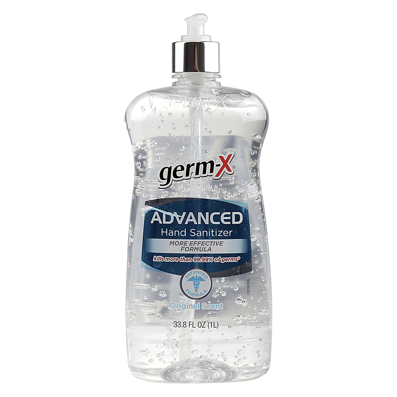 Germ X Original Scent Advanced Hand Sanitizer, 33.8 fl. oz. (1L)