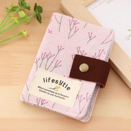 Floral Women Credit ID Card Clutch Bag Wallet Purse Holder Pouch Coin Bag Pocket - image 1 de 5