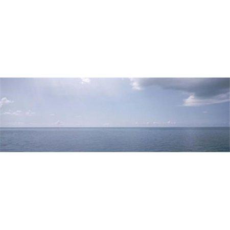 Bermuda Atlantic Ocean (Clouds over the sea  Atlantic Ocean  Bermuda  USA Poster Print by  - 36 x 12)