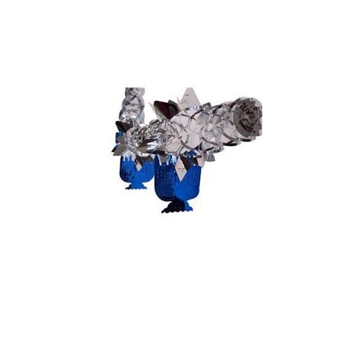 Alef Judaica D102 Blue and Silver Menorah Garland - Dozen