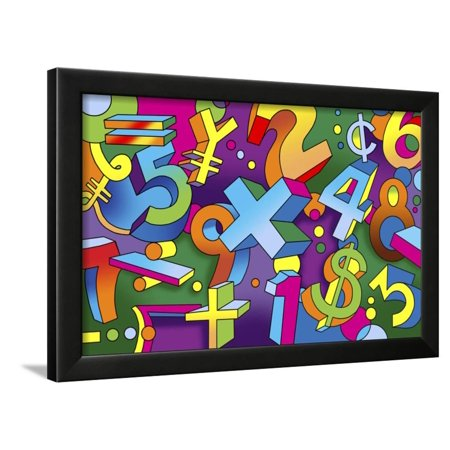 Math Mural Framed Print Wall Art By Howie Green