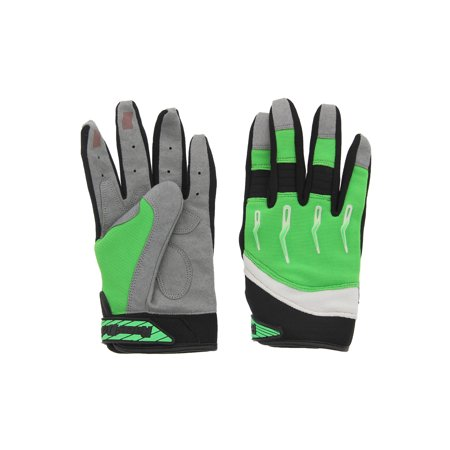 Race-Driven ATV MX Off Road Silicone Fingertip Riding Gloves Green
