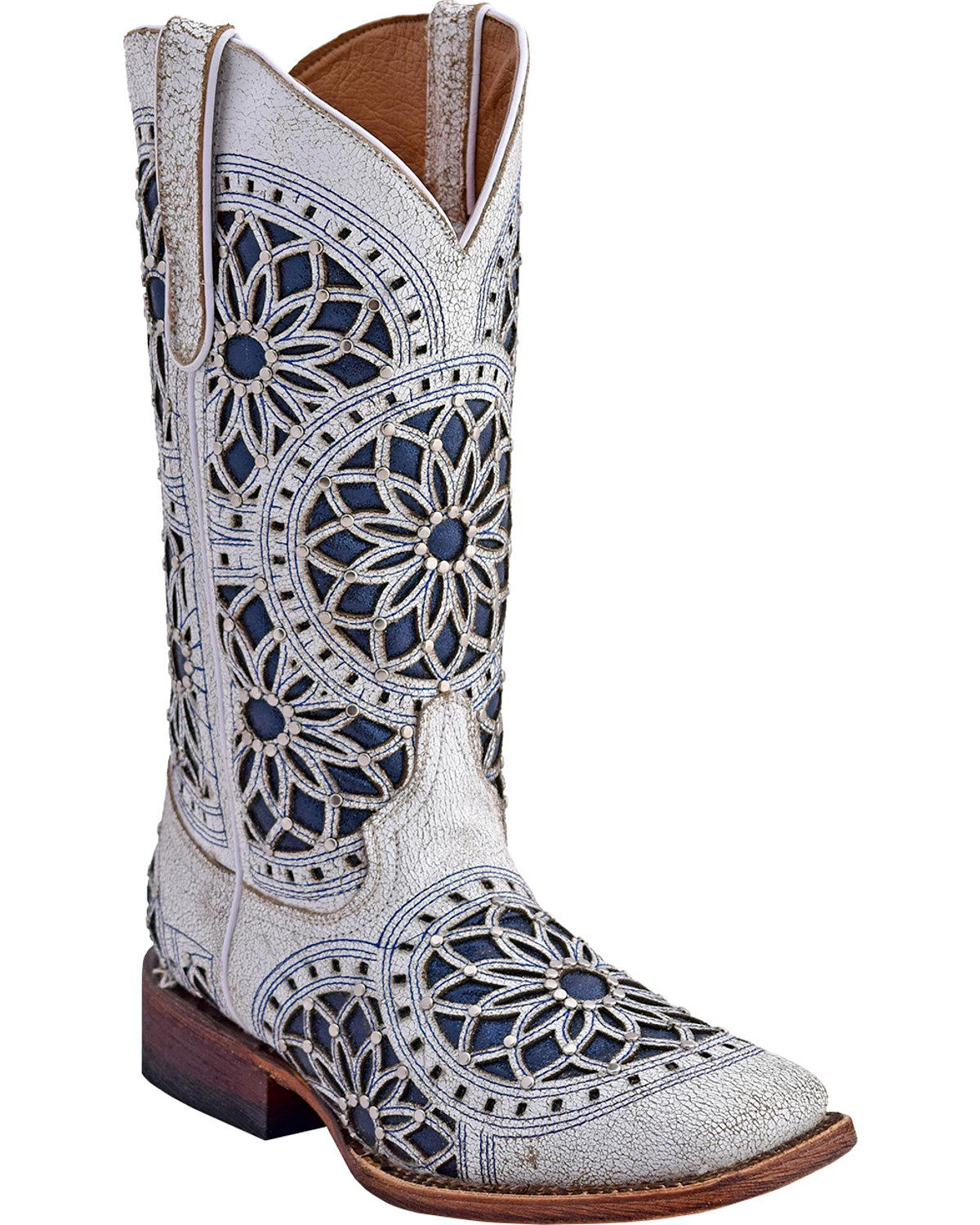 Ferrini Women's Mandala Western Boot Square Toe - 8409319