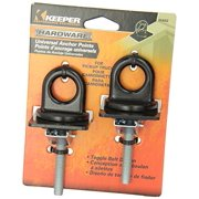 Keeper 5652 Anchor Point, Universal, Black Stake Pocket, 2 Pack