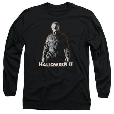 Halloween Ii Michael Myers   L S Adult 18 1   Black   Sm