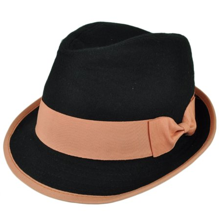Fedora Black Orange Bow Womens Diamond Top Trilby Gatsby Small Medium Gangster](The Great Gatsby Clothes For Women)