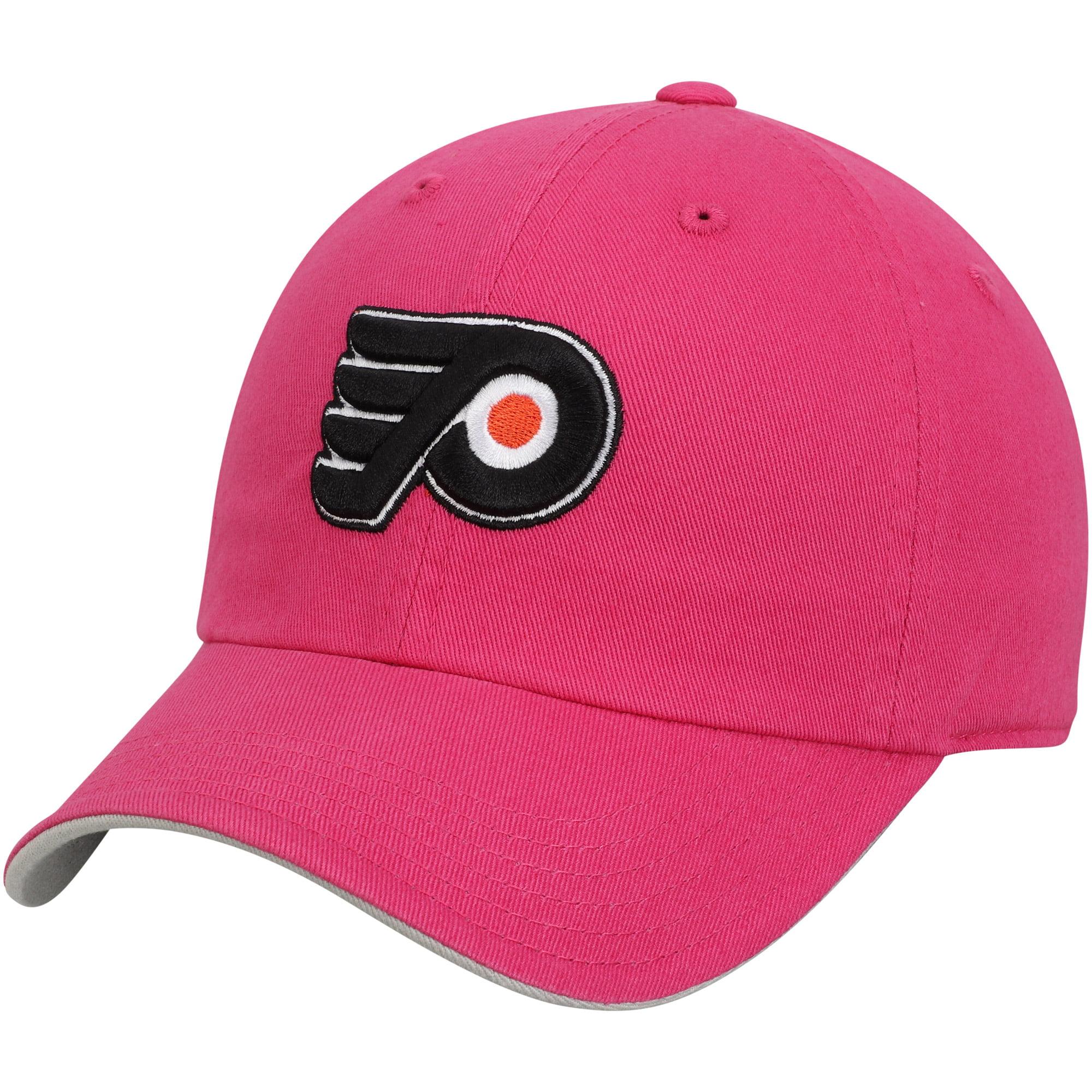 Philadelphia Flyers Girls Youth Slouch Adjustable Hat - Pink - OSFA