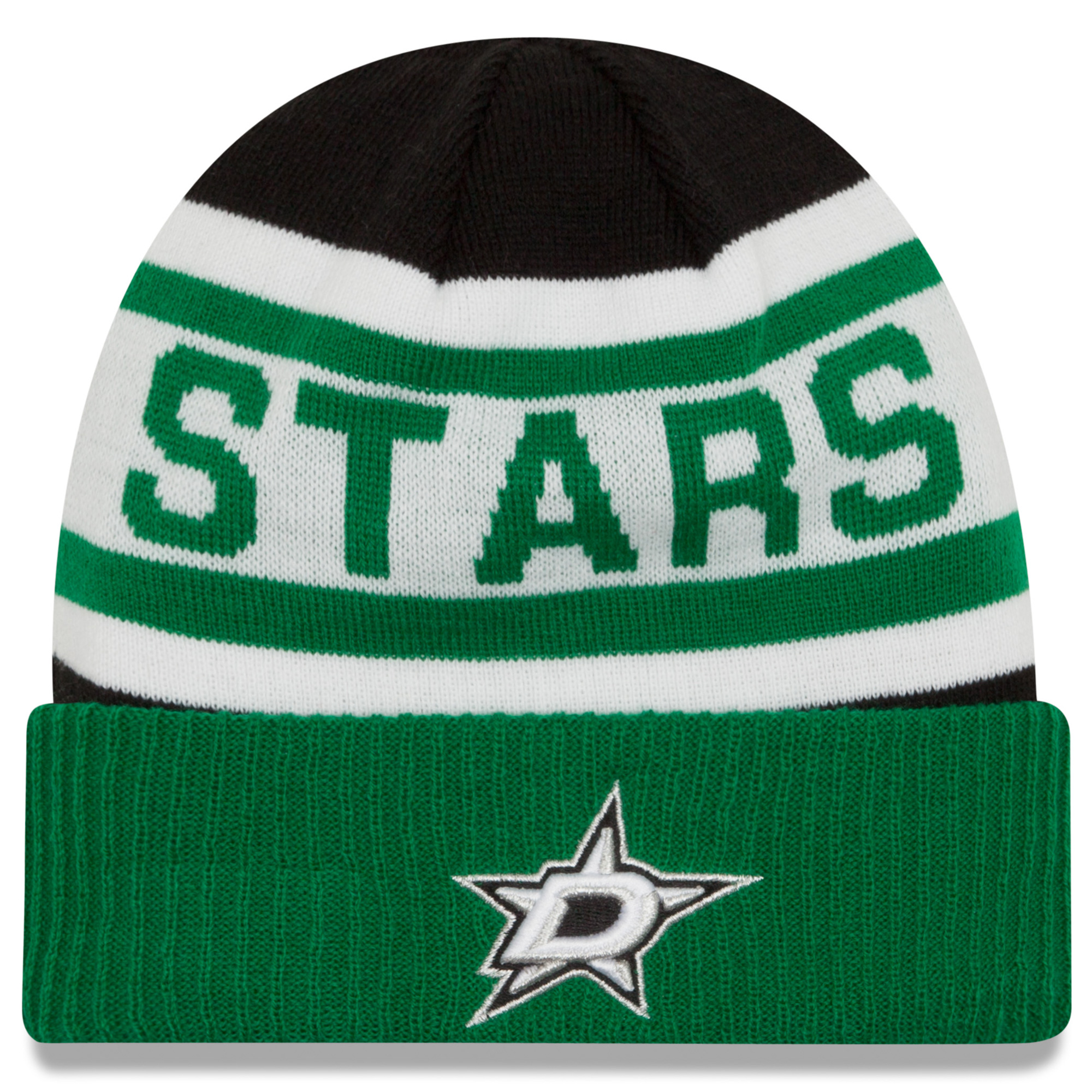 Dallas Stars New Era Biggest Fan Redux Cuffed Knit Hat - Kelly Green - OSFA