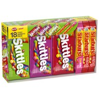 Skittles & Starburst Full Size Candy Variety Mix, 18-Count Box