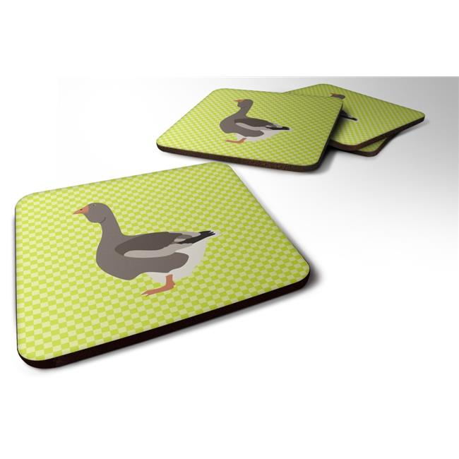 Carolines Treasures BB7723FC Toulouse Goose Green Foam Coaster, Set of 4 - image 1 de 1