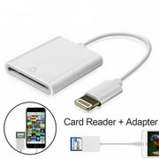 SD Card Camera Reader for iPhone iPad [Support iOS 9.2 or up],- No App Required