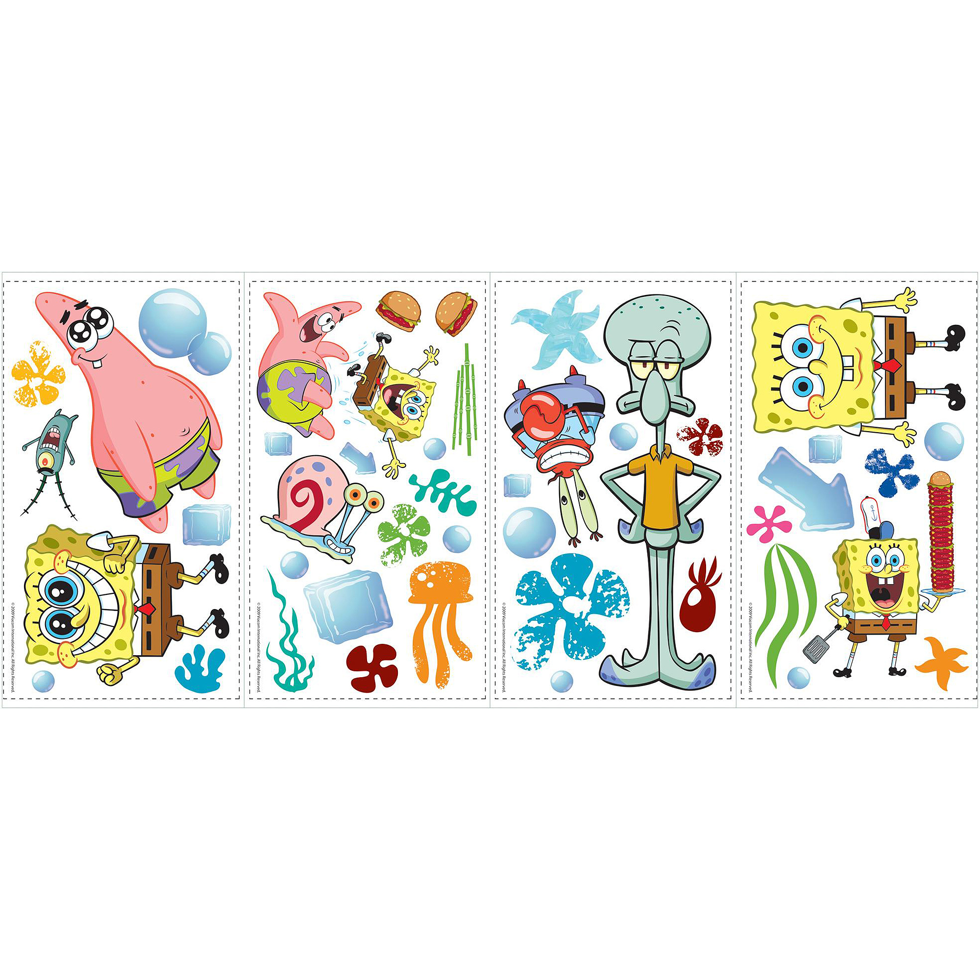 RoomMates SpongeBob SquarePants Peel And Stick Wall Decals - Spongebob room decals