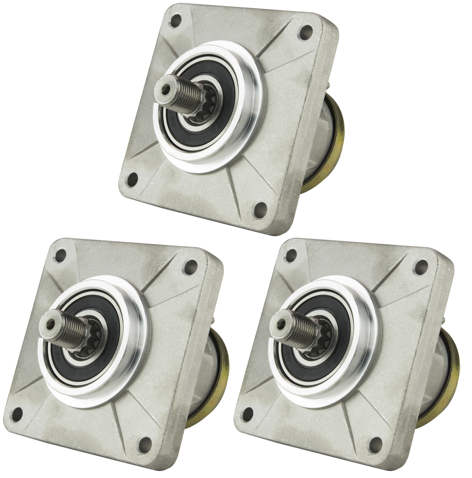 Three (3) Pack Erie Tools Lawn Mower Deck Spindle Assembly For MTD 918-0116, 618-0111, 6187-0116, 618-0116A, 918-0116,... by Erie Tools