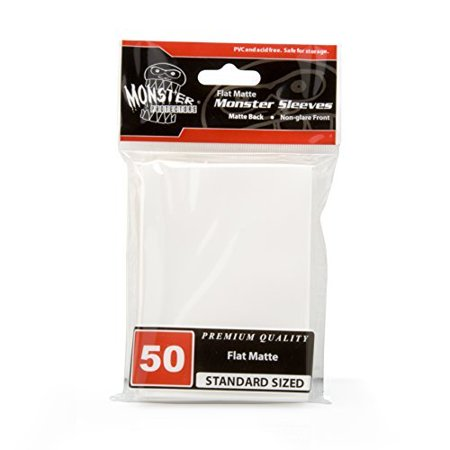 Sleeves - Monster Protector Sleeves - Standard MTG Size Flat Matte - WHITE (Fits Magic and Standard Sized Gaming