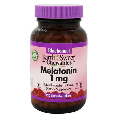 - Bluebonnet Nutrition - EarthSweet Chewables Melatonin Natural Raspberry 1 mg. - 120 Chewable Tablets