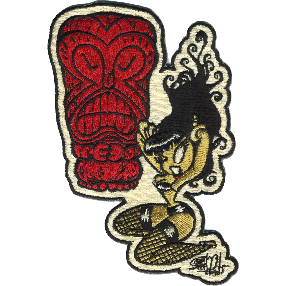 Retro-a-go-go! Savage Beat Patch Red/Yellow