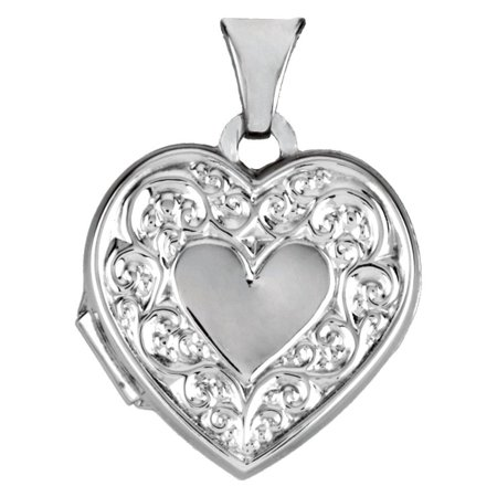 Sterling Silver Heart Shaped Locket 15x15.5mm - 1.1 Grams (Grams Lockets)