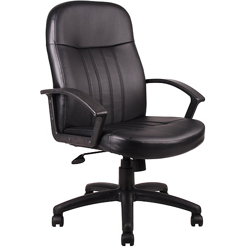 Boss LeatherPlus Executive Chair with Durable Polypropylene Arms