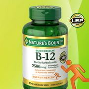 Natures Bounty Vitamin B-12 2500 mcg 300 Quick Dissolve Tablets