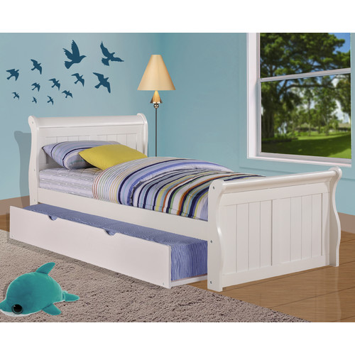 Donco Kids Sleigh Bed with Twin Trundle