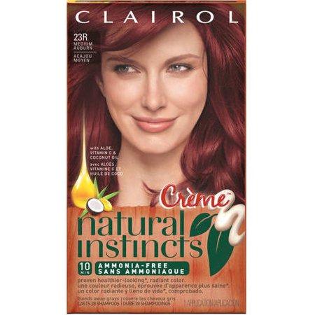 Clairol Natural Instincts Semi Permanent Hair Color Medium Auburn 23r