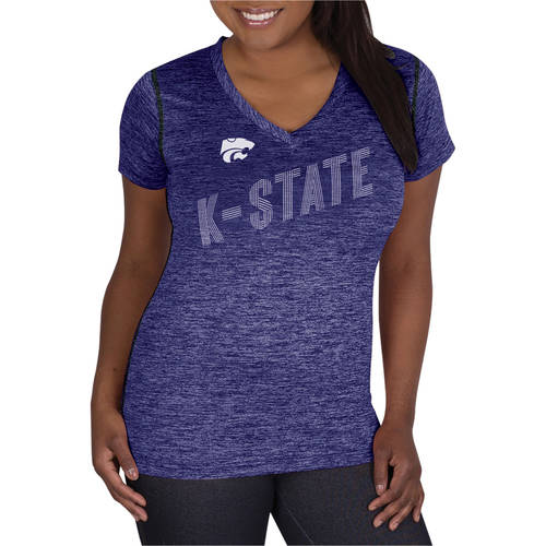NCAA Kansas State Wildcats Ladies Classic-Fit Synthetic V-Neck Tee